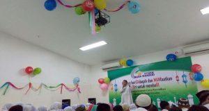 Pelaksanaan santunan 400 anak yatim dan dhuafa di STMIK Nusa Mandiri